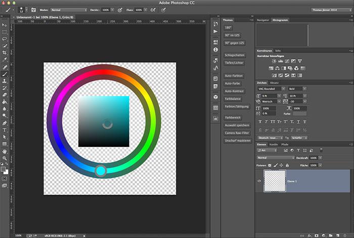 Photoshop: Farbe ändern mit dem HUD-Farbwähler
