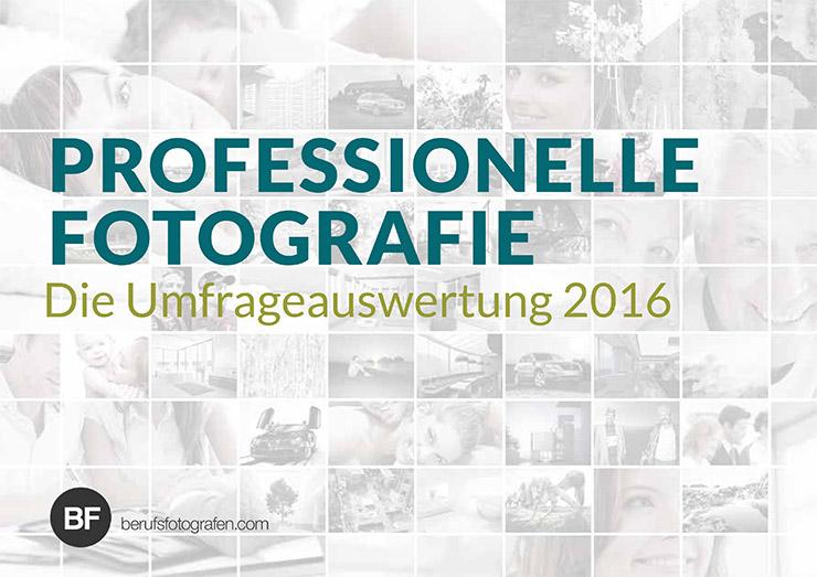 Umfrage unter Fotografen 2016 – Ausbildung, Rechtsform, Studio (Teil 1)