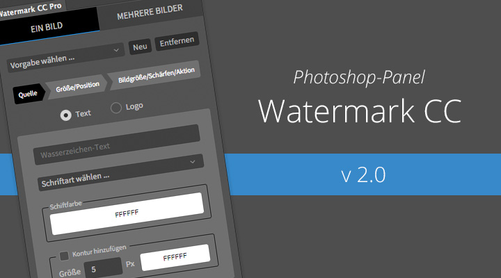 Watermark CC v 2.0 (Photoshop-Panel) ist da – Das ist neu