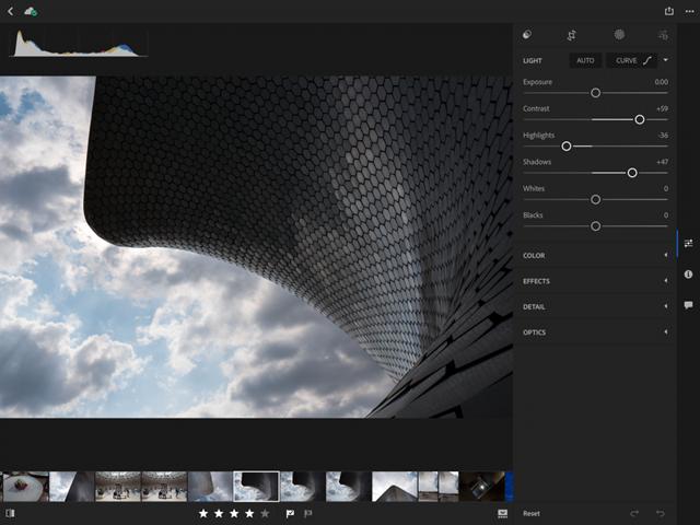 Das neue Interface auf dem iPad. Screenshot: Adobe