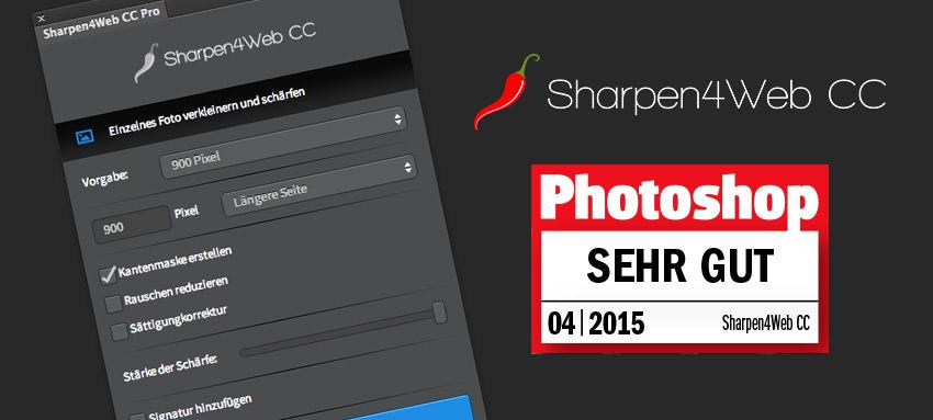 """Sharpen4Web CC erhält den Stempel """"Sehr gut"""" vom Magazin """"Photoshop"""""""