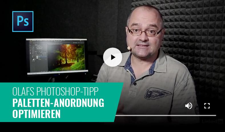 Photoshop-Tipp: Paletten-Anordnung optimieren