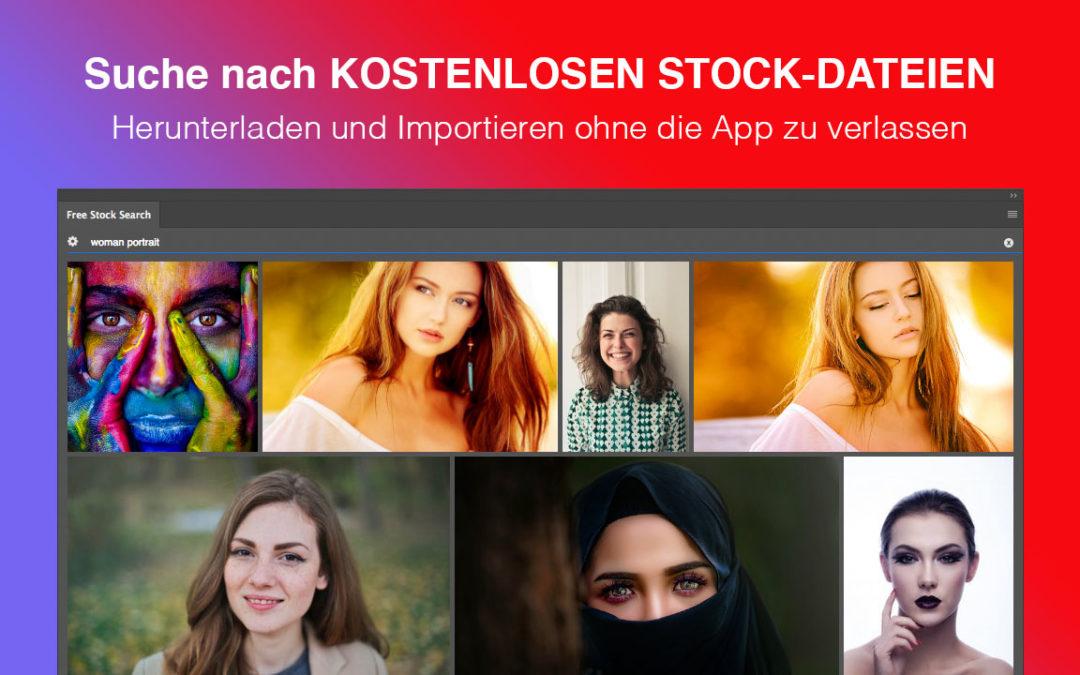 Free Stock Search PRO – Suche nach kostenlosen Stock-Dateien direkt in Adobe Apps