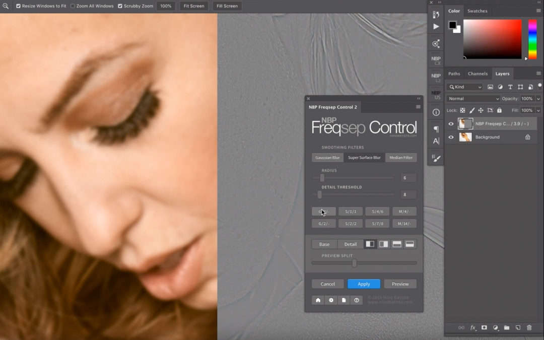 Frequenztrennung in Photoshop auf neuem Niveau – Neues Panel/Plug-In